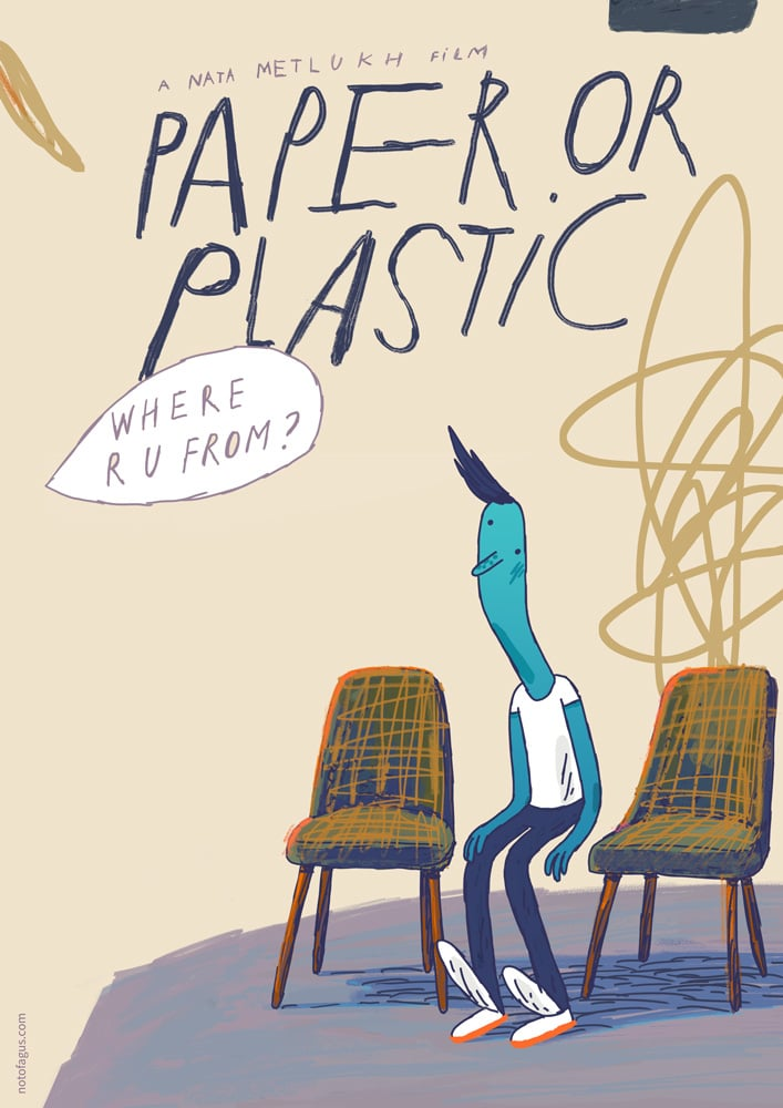 "Poster for the movie ""Paper or Plastic"""